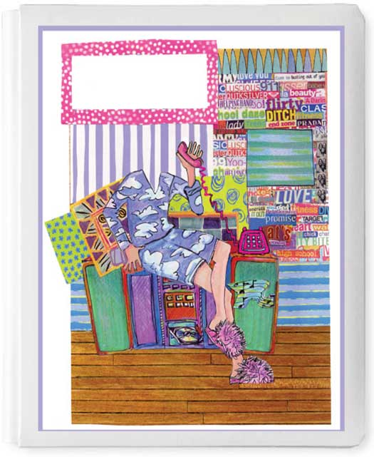 Personalized 3D Sign In Book, Fuzzy Pink Slippers