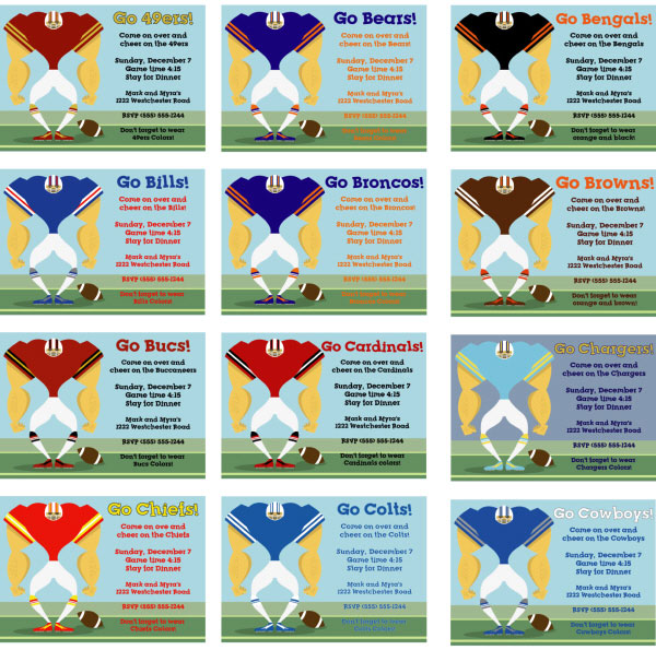 Choose Your Football Team Invitation