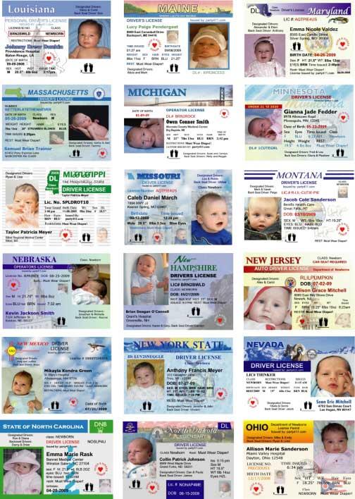 A Driver's License Birth Announcement