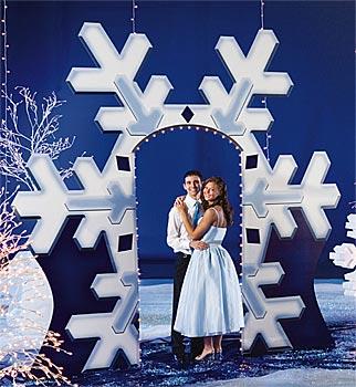 Giant Snowflake Arch