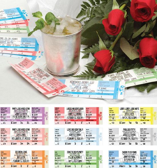 Kentucky Derby Authentic Ticket Invitation