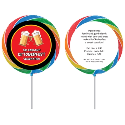 Oktoberfest Flag Theme Lollipop