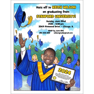 A Graduation ''Add a Face'' Invitation or Announcement, Male