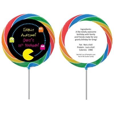 80s Theme Custom Lollipop