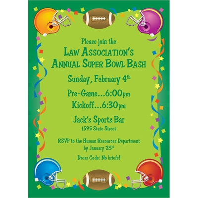 Football Gear Party Invitation