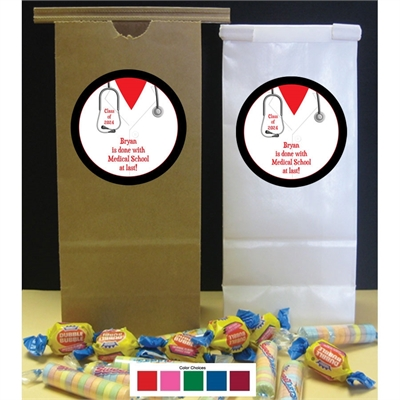 Graduation Doctor's Coat Party Favor Bag
