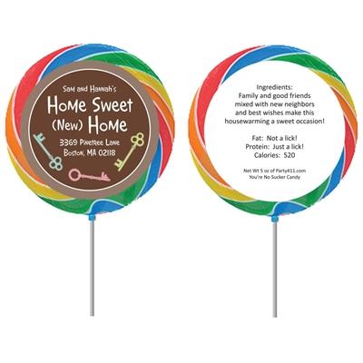 Housewarming Theme Custom Lollipop