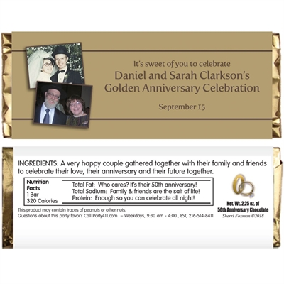 50th Anniversary Theme Candy Bar Wrapper
