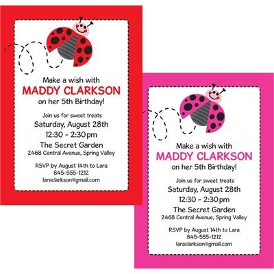Ladybugs Party Invitation