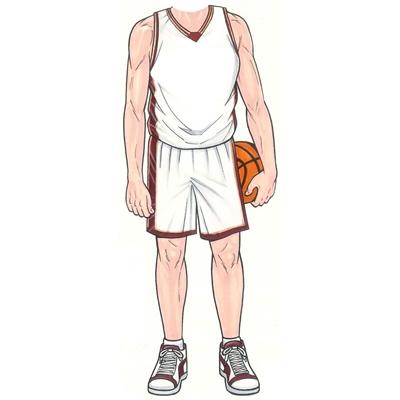 Basketball Player Male Cutout