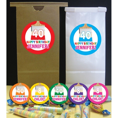 Birthday Paint Party Theme Favor Bag