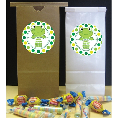 Leap Day Frog Theme Favor Bag