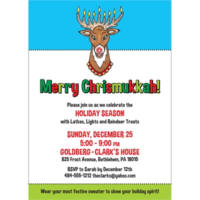 Chrismukkah Invitation