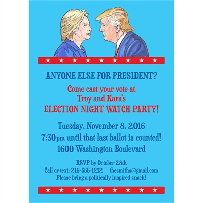 Election Night 2016 Party Invitation