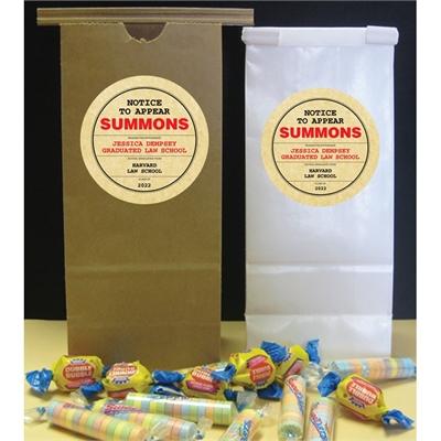 Graduation Law School Subpoena Theme Favor Bags