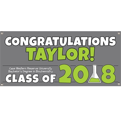 Science Graduation Theme Banner
