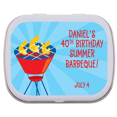 Barbeque Party Theme Mint and Candy Tin