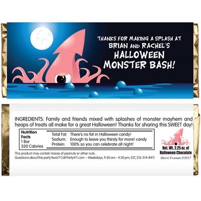Halloween Sea Creature Candy Bar Wrapper