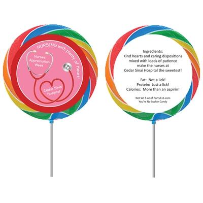 Nursing With Heart Appreciation Lollipop