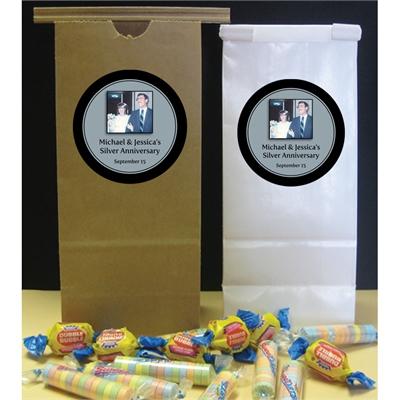 25th Anniversary Custom Party Favor Bag