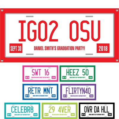 Graduation License Plate Theme Banner