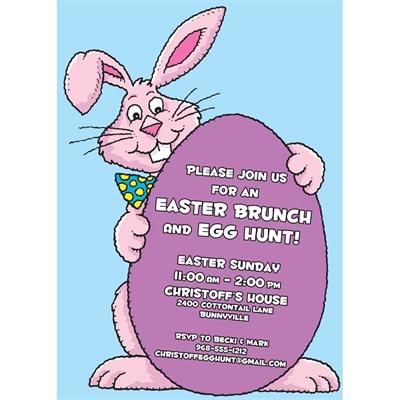 Easter Bunny Theme Invitation