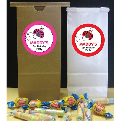 Ladybugs Theme Custom Party Favor Bag
