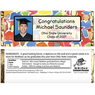 Graduation Crowd Theme Candy Bar Wrapper