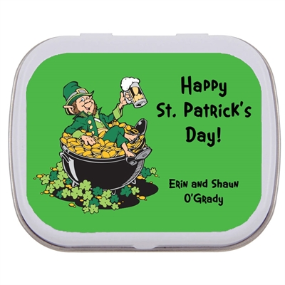 St. Patrick's Day Leprechaun Theme Mint Tin