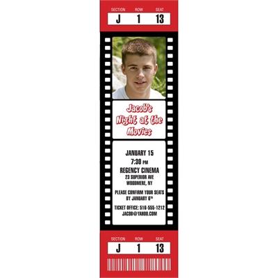 Hollywood Movie Photo Ticket Invitation