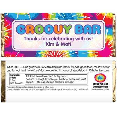 Hippie Tie Dye Theme Candy Bar Wrapper
