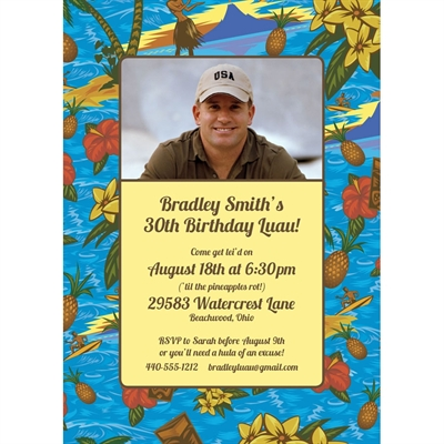 Hawaiian Shirt Party Invitation
