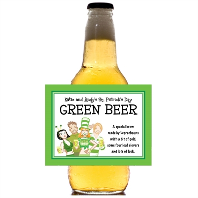 St. Patrick's Day Pub Theme Beer Bottle Label