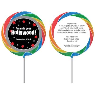 Hollywood Star Theme Custom Lollipop
