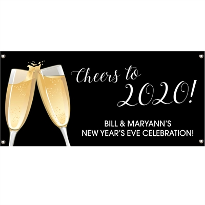Champagne Toast Theme Banner