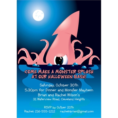 Halloween Sea Creature Invitation