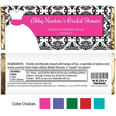 Wedding Dress Theme Candy Bar Wrapper