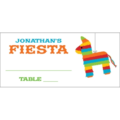 Pinata Theme Fiesta Seating Card