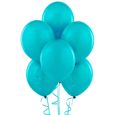 Turquoise Matte Latex Balloons (6)