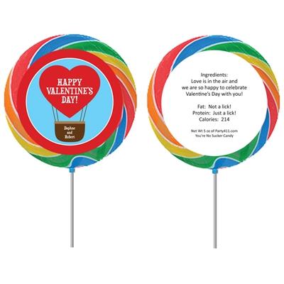 Heart Hot Air Balloon Party Lollipop