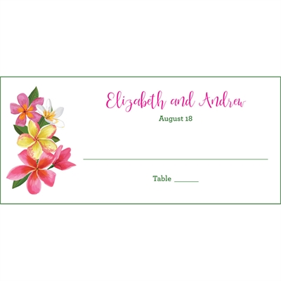 Tropical Flower Seating Card