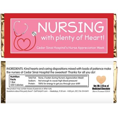 Nursing With Heart Appreciation Candy Bar Wrapper