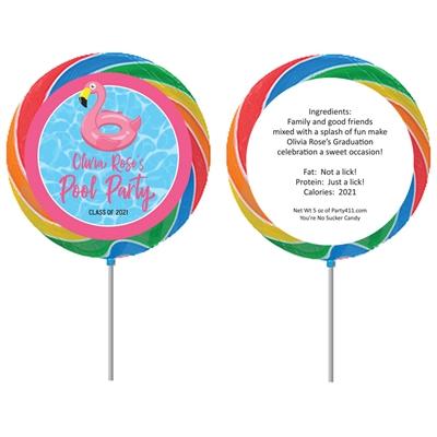 Graduation Pool Party Theme Lollipop