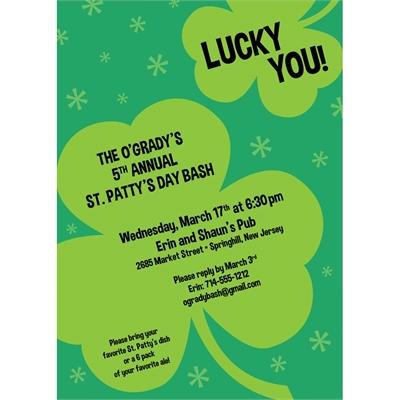 st patrick s day irish invitation