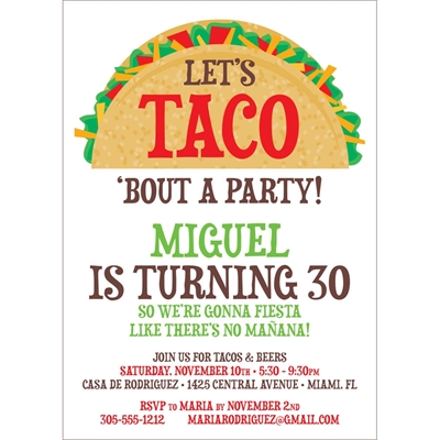 taco party fiesta invitation