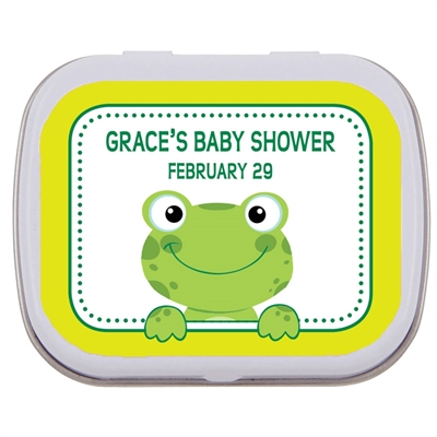 Baby Shower Frog Mint Tin