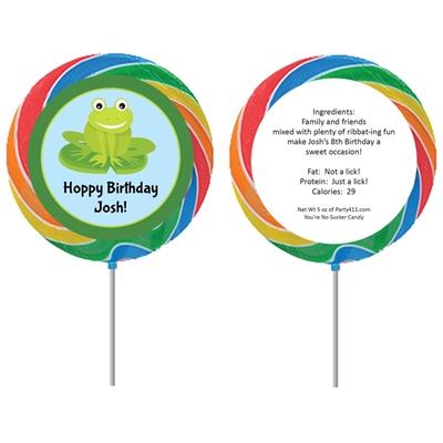 Frog Theme Custom Lollipop