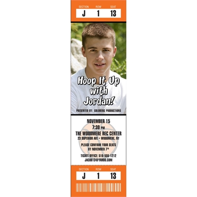 Basketball Photo Ticket Invitation