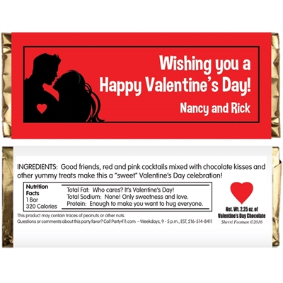 Valentine's Day Couple Theme Candy Bar Wrapper