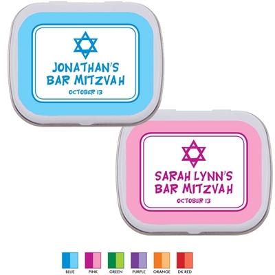 Star of David Mitzvah Mint Tin
